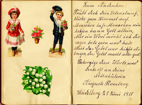 Klaras Poesiealbum 1918 Zum Andenken