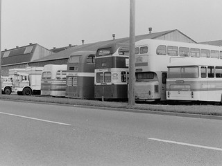 Lockwoods Foods staff transport, Long Sutton (circa 1980) (c) Colin Apps