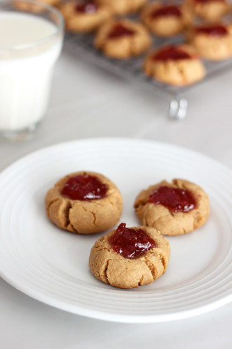 Grain-Free Peanut Butter & Jelly Cookies - Gluten-free + Vegan