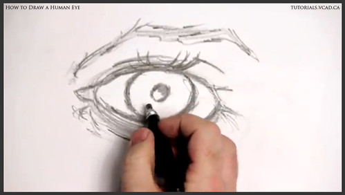 learn how to draw a human eye 010