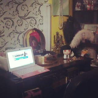 my work station - where the blogging happens