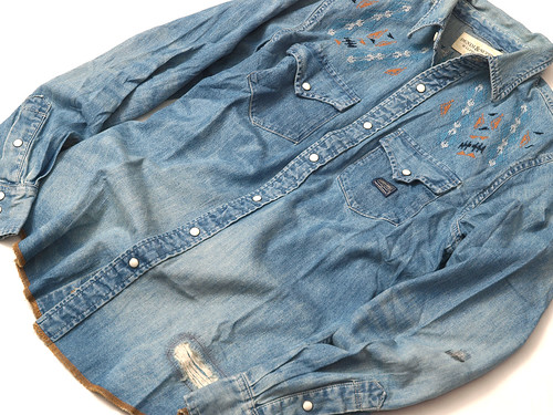 Denim & Supply / Raw-Hem Western Shirt