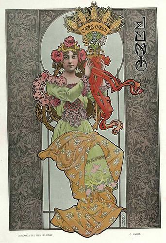 006-Alegoria del mes de Junio- Gaspar Camps-Revista Álbum Salón-Enero de 1901 -Hemeroteca de la Biblioteca Nacional de España