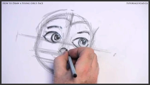 learn how to draw a young girls face 010
