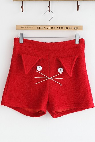 Cartoon-Cat-Face-Shorts
