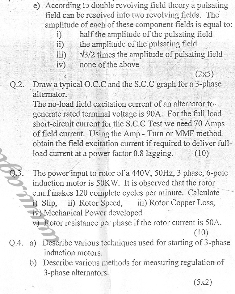 GGSIPU Question Papers Fourth Semester – Second Term 2006 – ETIT-208/ETME-208