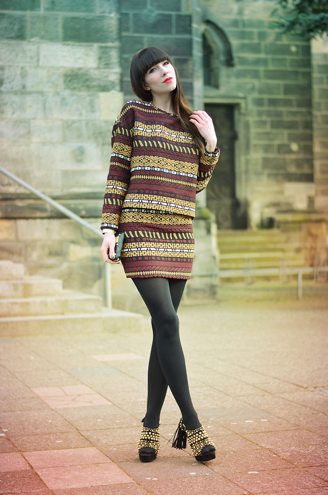 Zara aztec pattern outfit CATS & DOGS Blog 8