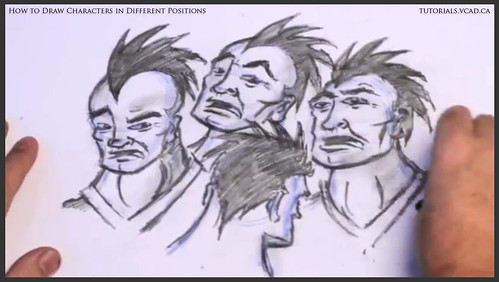 learn how to draw characters in different positions 036
