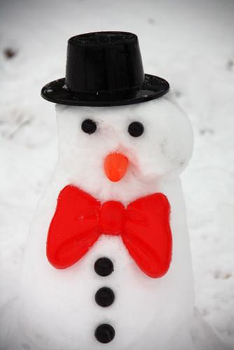 Closeup-snowman