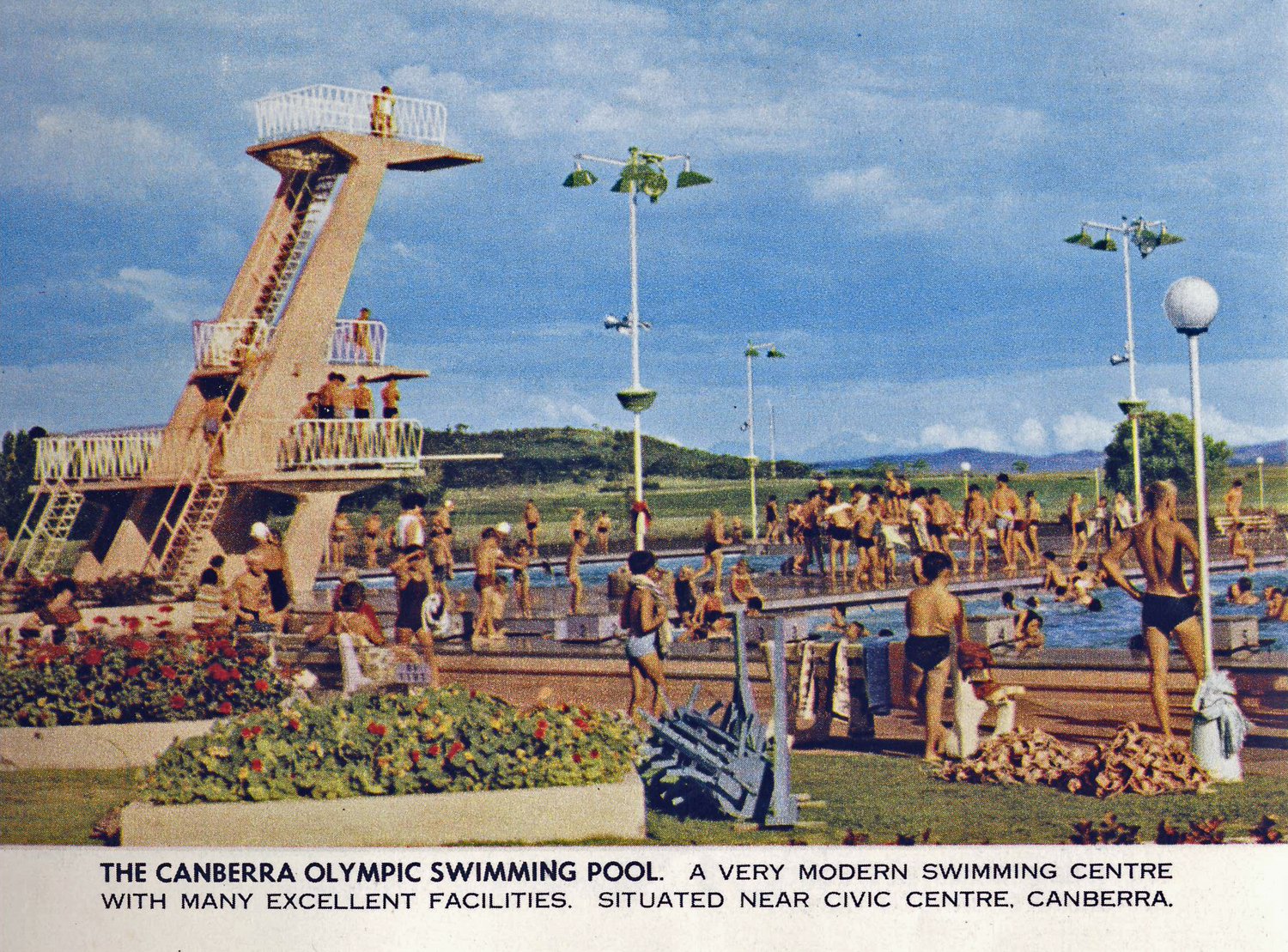 Olympic Swimming Pool Canberra Australia Circa 1960 Flickr Photo Sharing