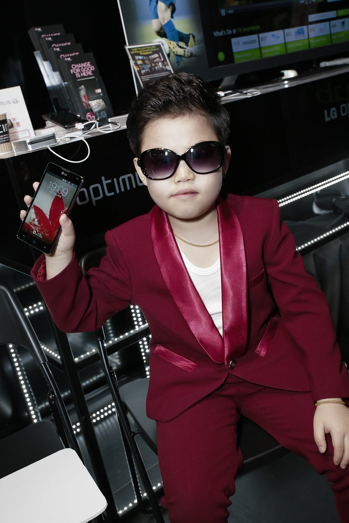 Little Psy with his new LG Optimus G - I am now using the same phone too :)