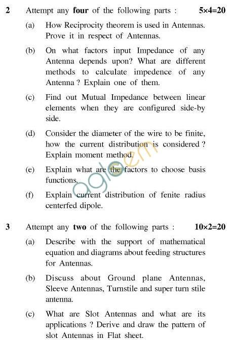 UPTU B.Tech Question Papers -EC-032-Antenna Analysis & Synthesis