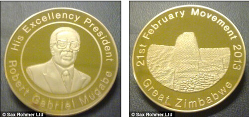 Mugabe gold birthdy coin
