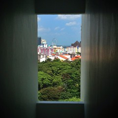 Window on the city.