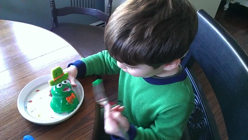 Dylan and his frog