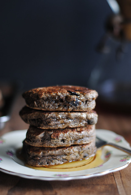 Blueberry Banana Buckwheat Pancakes
