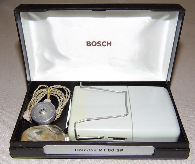 Vintage Bosch Omniton MT 80 SP Hearing Aid, Circa 1970s