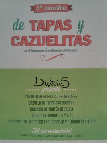 Zaragoza | Durán 5 | Cartel