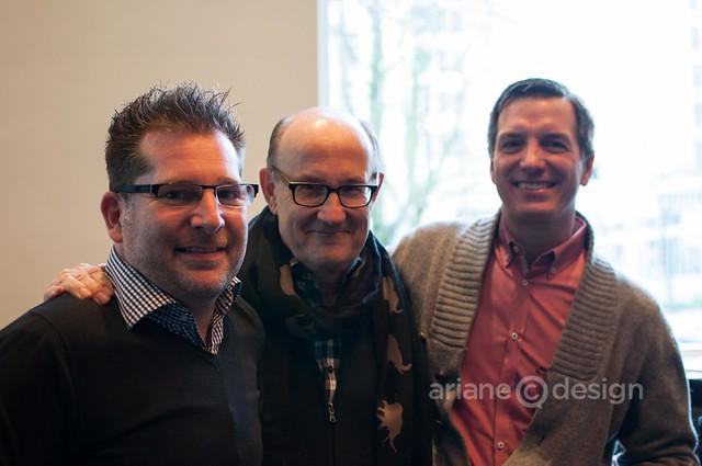 Brady Dunlop, Joost Bakker, JJ Bean owner John Neate