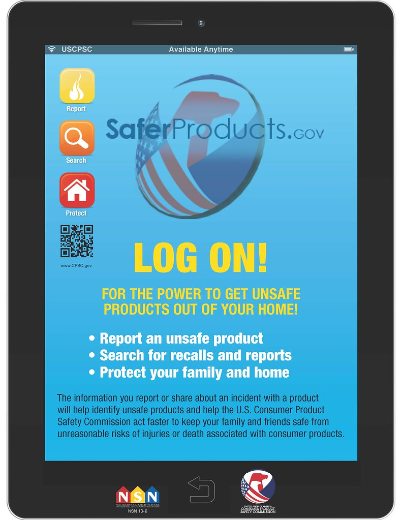 Log on to SaferProducts.gov