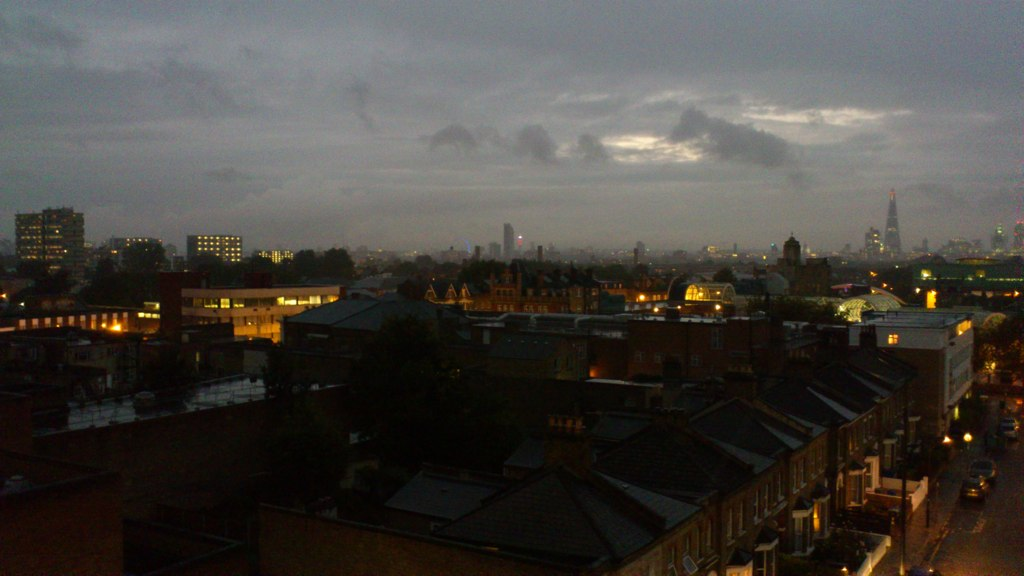 Nightime view of Peckham