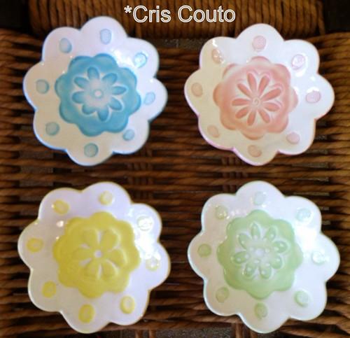 Pratinhos 4 flores... by cris couto 73