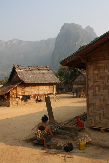 Village in Laos, March 1, 2013, by Amy Miller.