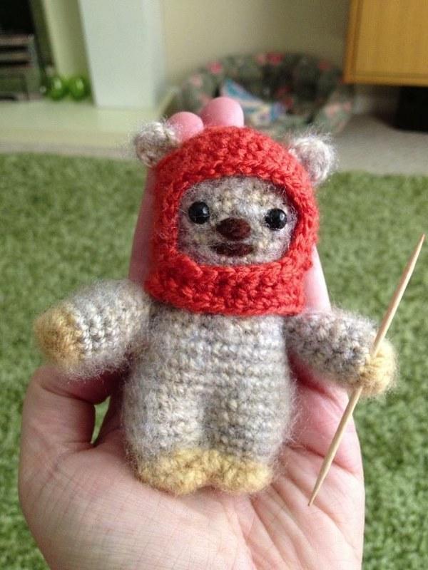 Crochet ewok