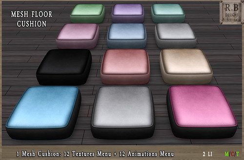 *RnB* Mesh Floor Cushion I - 12 Text & 12 Anims -