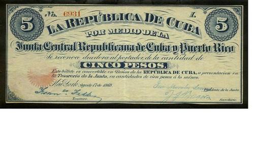 Cuba Military Junta 5 pesos
