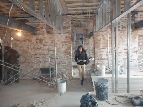 Office renovation, historical renovation, sandblasted bricks, Alex Franceschini