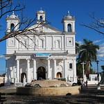 La Iglesia Santa Lucia (1853-1857) on the Central Plaza of Suchitoto