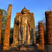 Temple of the rising sun in Sukhothai. Wat Shapan Hin