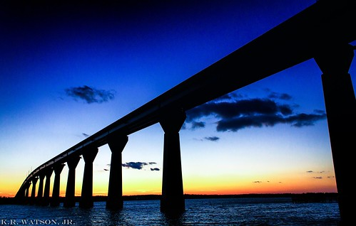 county blue sunset sky sun water silhouette clouds river bay maryland calvert patuxent solomonsisland thomasjohnsonbridge