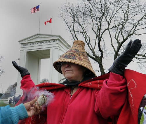 Hundreds of Idle No More movement protestors rally at the Peace Arch border crossing for an hour long prayer ceremony and drum circle in Surrey on Saturday, January 05, 2013.  Idle No More is protesting the Harper government's treatment of First Nations. by Pan-African News Wire File Photos