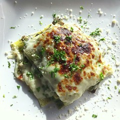 Spinach Lasagna @melenzanekw. Lunch 11.1.13