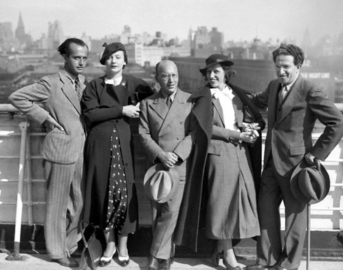 1935; European Actors  arrive in New York by Jack's Movie Mania