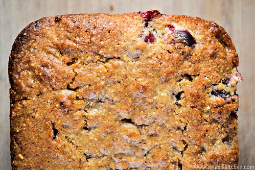 Vegan Cranberry Orange Cornbread 1