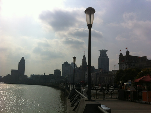 The Bund after the smog has disappeared