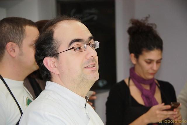 Nacho Garbayo en el Tapas&Blogs en la Escuela de cocina Dismuco