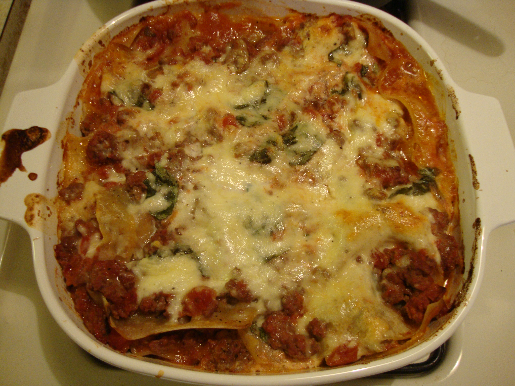 Lasagne bolognese from Rocco DiSpirito's Now Eat This Italian