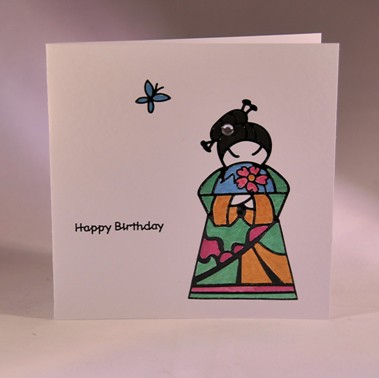 Handmadecardlady Japanese Lady Birthday Card
