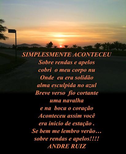 SIMPLISMENTE ACONTECEU by amigos do poeta