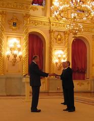 Embajador Rubén Beltrán y Presidente Vladimir Putin