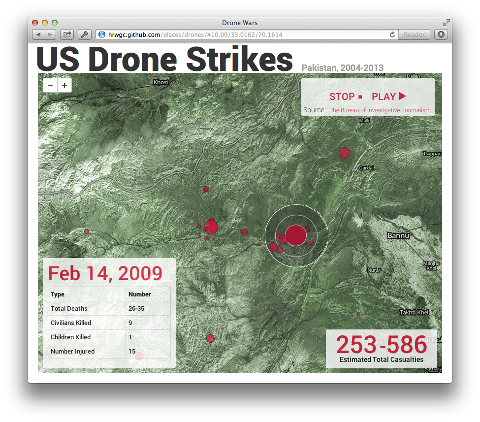 U.S. Drone Strikes in Pakistan | MapBox