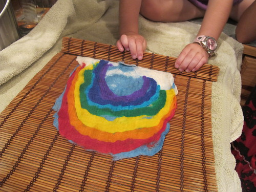 Summer Wet Felting: Rainbow#17