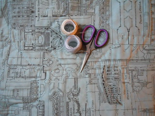 Swoon back, hand quilting in progress
