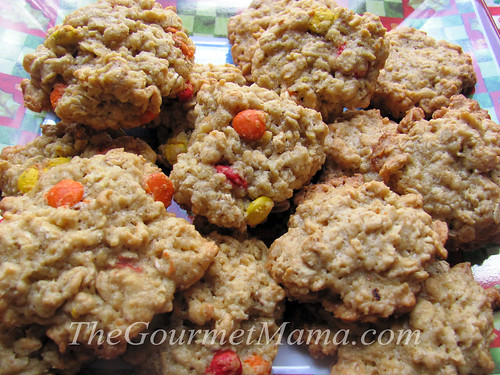Candy Oatmeal Cookies
