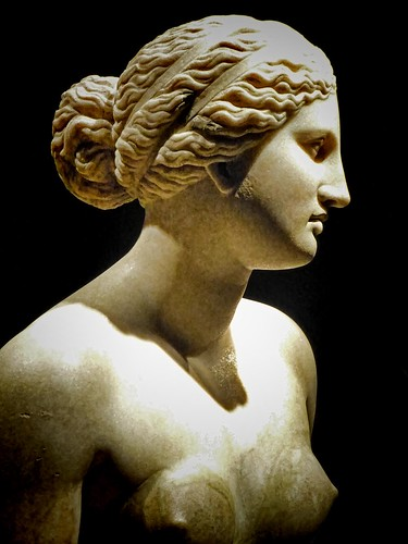 Bust of Aphrodite Roman copy of 360 BCE Greek original by Praxiteles found in the river Tiber in Rome (5) by mharrsch