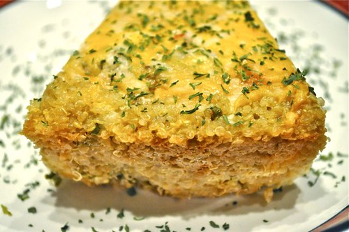 quinoa-crusted quiche feature